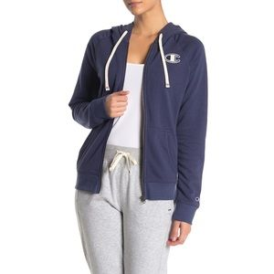 NWT Champion Heritage French Terry Zip Up Hoodie L